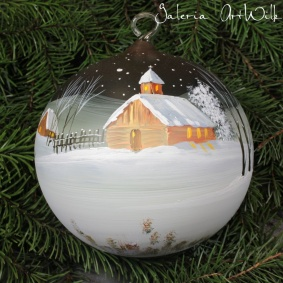 Hand painted glass ball 15 / 31 / 12