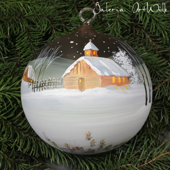 Hand painted glass ball 15/31/12