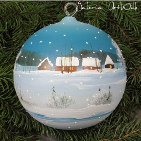 Hand painted glass ball 15 / 31 / 5