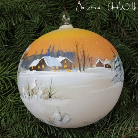 Hand painted glass ball 15 / 31 / 2