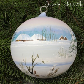 Hand painted glass ball 15 / 31 / 3-1