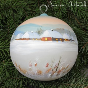 Hand painted glass ball 15 / 31 / 9