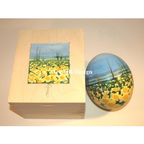 Ostrich easter egg, hand painted 200