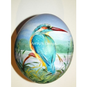 Ostrich easter egg, hand painted 205