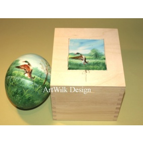 Ostrich easter egg, hand painted 211
