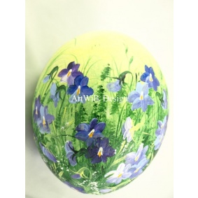 Ostrich easter egg, hand painted 219