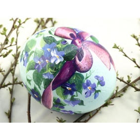 Ostrich easter egg, hand painted 231