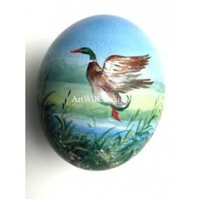Ostrich easter egg, hand painted 143