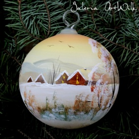 Hand painted glass ball 10 / 31 / 121