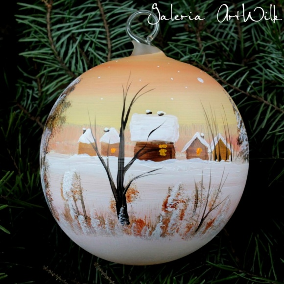 Hand painted glass ball 10/31/122