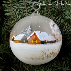 Hand painted glass ball 10 / 31 / 124