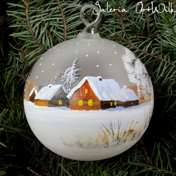 Hand painted glass ball 10/31/124
