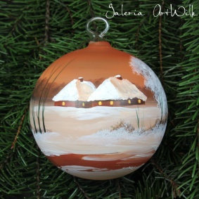 Hand painted glass ball 10 / 31 / 251