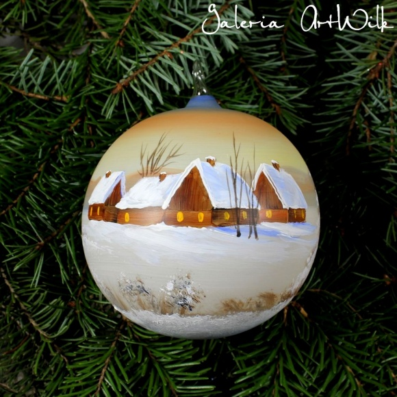Hand painted glass ball 3391