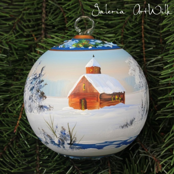 Hand painted glass ball 10/32/624